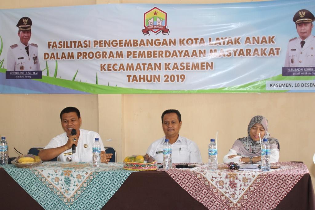 Kegiatan Pengembangan Kota Layak Anak Kecamatan Kasemen