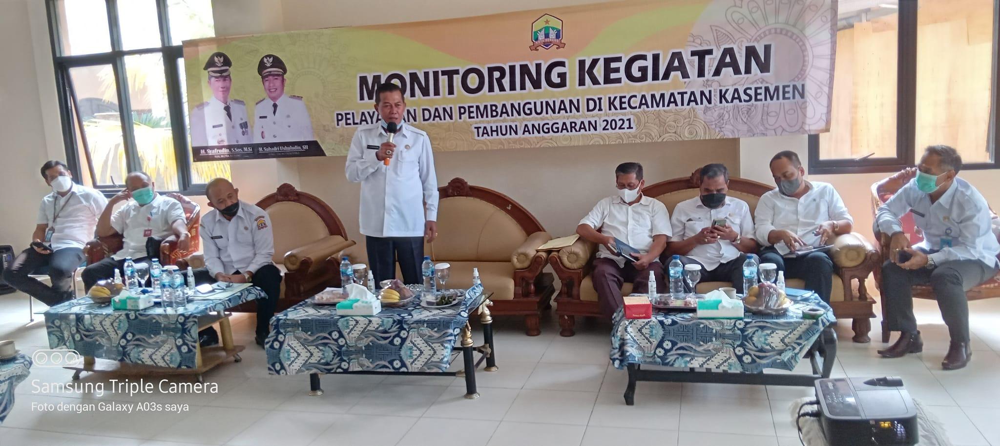 Monitoring Pelaksanaan Pelayanan Pembangunan Di Kecamatan Kasemen